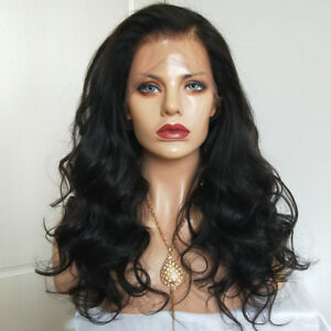 Brazilian Human Hair Body Wave Pre Plucked 13x4 Lace Front Wigs Virgin Remy Wavy