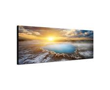 120x40cm Blaue Quelle Panorama Heiß Quelle Island Hveravellir Bild Sinus Art