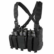 Condor Black MCR5 MOLLE 5.56 .223 Magazine Holster Rapid Assault Chest Rig Vest