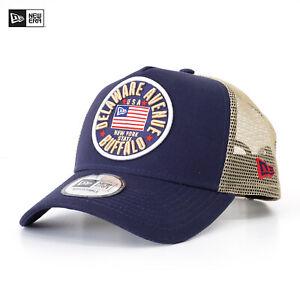 New Era A-Frame Trucker Cap US Flag Pack Mütze Snapback Navy Buffalo Neu