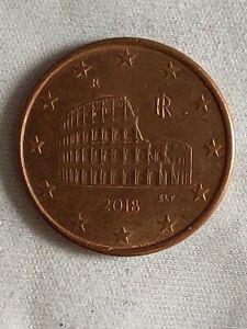 Pièce 5 Euros Cent Italie 2018