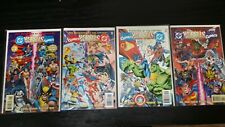 1996 COMPLETE SET DC VERSUS MARVEL COMICS #1-4 FT SUPERMAN BATMAN & MORE