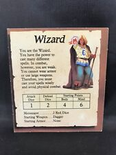 Vintage 1989 Hero Quest Board Game Replacement Wizard Character Card HeroQuest