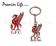 Liverpool F.C. Official Crest Keyring on a header card