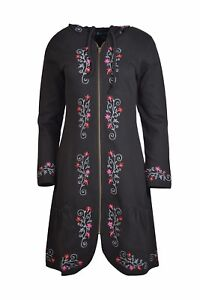 Women's Zipper Closed Jacket With Embroidery.