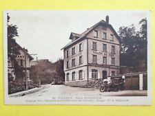 cpa RARE Alsace TROIS EPIS (Haut Rhin) VILLA BEAUSEJOUR Salon de Thé Café MOTO