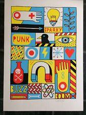 DAVID SHILLINGLAW 'Sparky' signed ltd edition screenprint, Moniker Art Fair,2013
