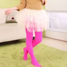 Kids Girls Velvet Candy Color Pantyhose Autumn Winter Dancing Tights Age 1-13