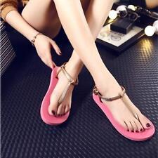 Ladies Girl Beach Summer Jelly Flip Flop Sandals Women Clip Toe Shoes 38 Sale+