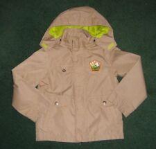 Boys Kids Beige Lightweight Jacket w Hood Lined Shell Age 4-5 Yrs / 110 cm Used