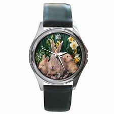 Easter Bunny Baby Rabbits Spring Holiday Accessory Leather Watch New!