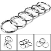 10-200Pcs Circle Hoop Ring Split Keyring Key Chain Holder Acces Stainless Steel