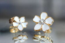 Yellow Gold Plated Stud Round Fine Earrings