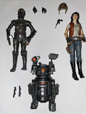 Star Wars Black Series Dr. Aphra, 0-0-0 Triple Zero and BT-1 loose lot Complete!