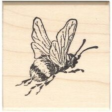 Bumble Bee Beeswax Rubber Stamp Mounted Insects Animals Wildlife Nature