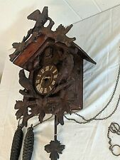 Early 1900's Black Forest Cuckoo Clock with Birds Runs - Keeps Time