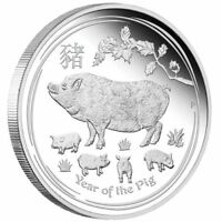 AUSTRALIAN LUNAR SERIES II 2019 YEAR OF THE PIG – 1/2 OZ SILVER PROOF COIN