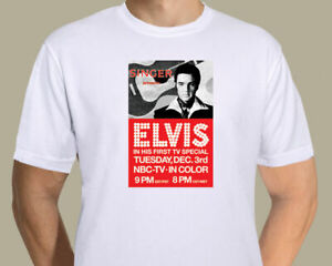 Elvis Presley - NBC 68 special promotional poster on T-shirt