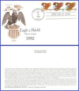 USA5 #2595 U/A ARTMASTER FDC Combo3 Eagle & Sheild - Brown