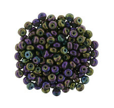 100 Tiny Czech Glass Rondelle Spacer Beads 3MM Assorted Colors