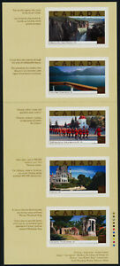 Canada 1989i Booklet Pane MNH Tourist Attractions, RCMP Parade, Architecture