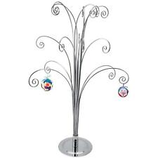 """Ornament Display Stand Tree Holder Hangers Hook~ 20""""H Silver Chrome Plated"""