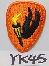 VINTAGE EMBROIDERED PATCH US ARMY WWII WW2 WINGED TORCH BIKER ORANGE-BLACK