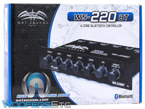 WET SOUNDS WS-220BT BLUETOOTH 4-ZONE MARINE BOAT LEVEL CONTROLLER AUX INPUT NEW
