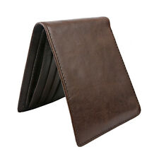 US Stock!Mens Leather Rfid Bifold Wallet Slim Wallet Business Card Case Xms Gift