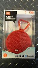 Genuine JBL Clip 2 Red Portable Bluetooth Speaker - Brand New