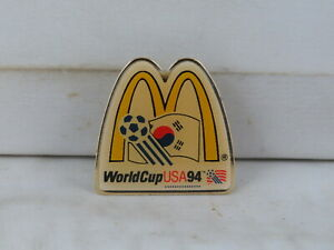 1994 World Cup of Soccer Pin - Team South Korea McDonalds Promo - Celluloid Pin