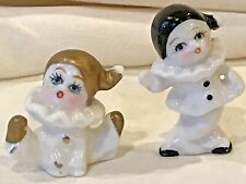 CLOWNS FIGURINES ( 2 of them) CERAMIC/PORCELAIN VINTAGE from Switzerland