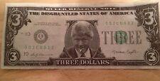 Slick RESERVE NOTE $3 DOLLAR PRESIDENT BILL CLINTON NOVELTY MONEY TRUMAN CAPOTE!