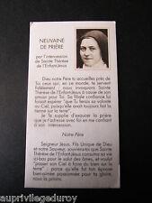 NEUVAINE de PRIERE par l'Intercession de Sainte Thérèse de l'Enfant-Jésus