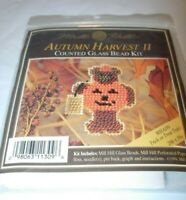 Mill Hill HALLOWEEN COUNTED GLASS Beaded BROOCH PIN CRAFTS JEWELRY MAKING KIT