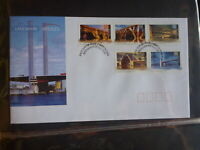 2004 AUSTRALIA LANDMARK BRIDGES SET 5 STAMPS FDC FIRST DAY COVER