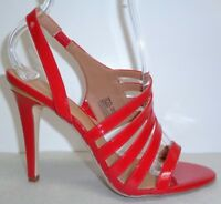 Calvin Klein Size 8.5 M MIRIAN Red Patent Leather Sandals New Womens Shoes