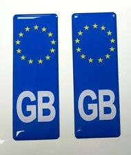 Small Domed Euro GB Vehicle Number Plate Stickers 63mm x HIGH GLOSS DOMED GEL