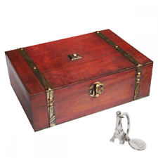 9.0 inch Treasure Box Pirate Small Trunk Jewelry Storage Case Container Display