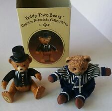 Vintage Teddy Town Bear Genuine Porcelain Collectibles By Russ and Ross Figurine