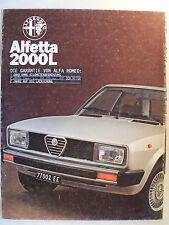 Prospekt Alfa Romeo Alfetta 2000 L, 11.1978, 8 Seiten, folder