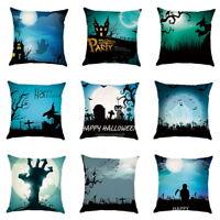 Halloween Printed Pillow Case Sofa Car Waist Throw Cushion Cover 45 * 45cm 33