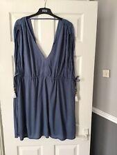 BLUE LIGHT BEACH DRESS SIZE 18 From M&S BNWT RRP £25 GENEROUS FIT