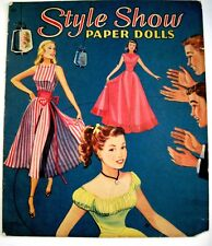 """1950's """"Style Show Paper Dolls"""" w/ 3 Dolls - Beth, Anne and Cathy - Uncut*"""
