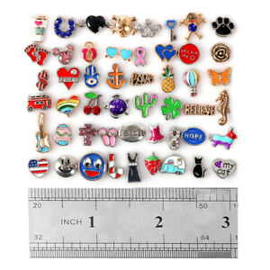 50Pc Mix Floating & Charms for Glass Living Memory Locket Silver Jewelry Finding