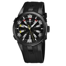 Perrelet Men's Turbine Sung Kang Black Dial Rubber Strap Automatic Watch A1098/2