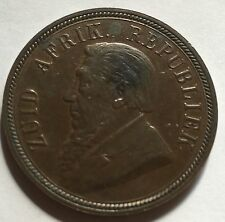 South Africa ZAR One Penny  Paul Kruger  1898