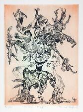 Bernhard Schultze migof-komödie Color Etching Titled, dat. Numeric Autographed