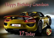 Carta di Compleanno Personalizzata Porsche Auto figlio nipote FRATELLO nipote