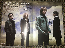 Bon Jovi 2008 Lost Highway Tour book signed autographed by ALL 4 PSA DNA COA LOA